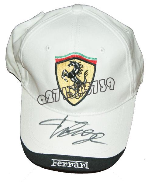 Кепка Алонсо автографом шляпы F1 гонки Формулы 1 сезона Ferrari
