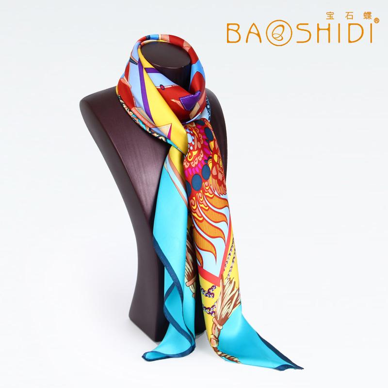 шарф Baoshidi 1021120281 2013 Женские Шелк Шарф