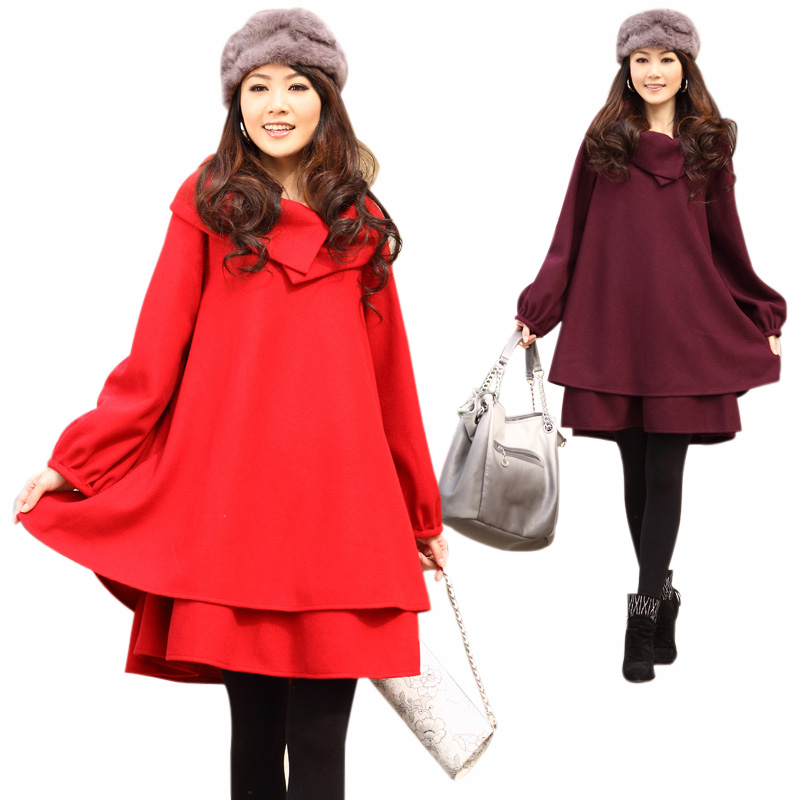 Loss on sale special offer ladies skirts-Barret coat woman long Cape coat plus size