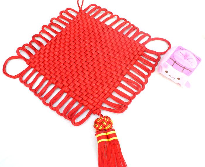 Китайские украшения Двойной висели 48 узел китайский праздничный китайский Новый год украшения ручной работы, Подарки и сувениры