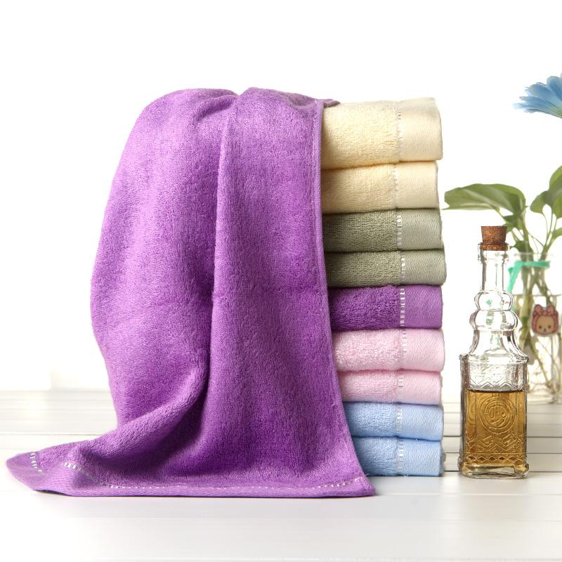 中国结竹纤维加厚方巾小毛巾女士便携美容巾童巾超柔吸水 PD5012
