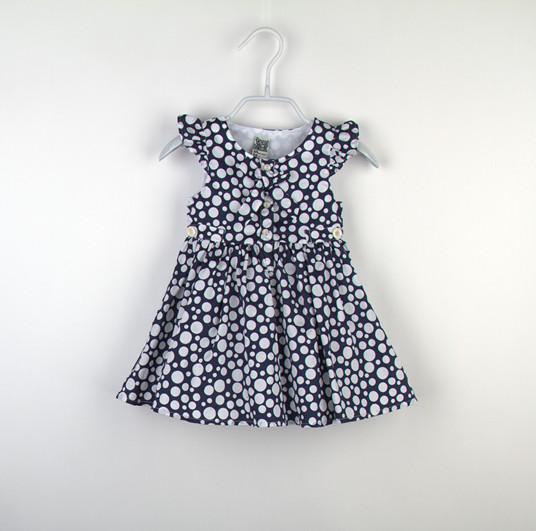 детское платье Tap2014 летняя Детская одежда торговли оригинальный подлинной-двухцветный короткое платье рукав с рукавами бабочкой для девочек