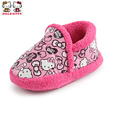 HelloKitty autumn and winter 2014 children's shoes children girls female baby cotton slippers home shoes soft bottom
