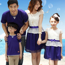 Tim LaBelle Family fitted summer full decoration 2013 new casual fashion female ladies organza lace dress