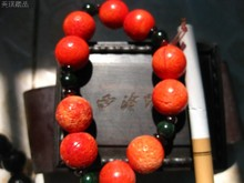 Red coral bracelet Strawberry red beautiful gift close some days Good dongdong put below market