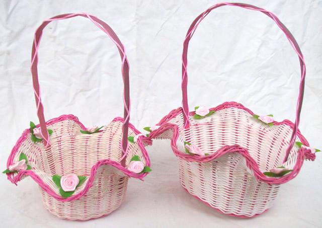 创意婚庆用品道具 撒花瓣花篮喜糖 跳舞蹈手提装饰收纳篮子