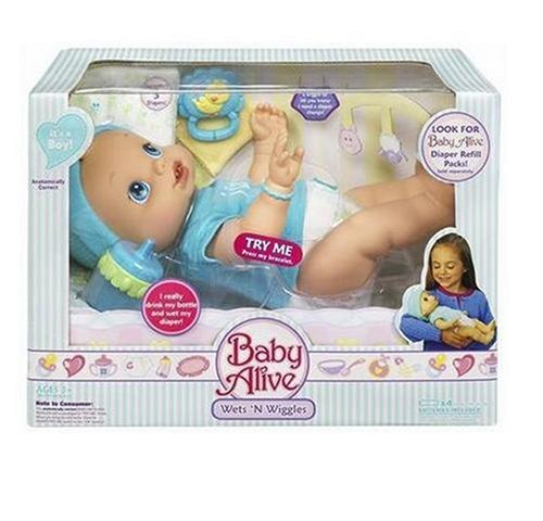 кукла   Baby Alive Wets Wiggles