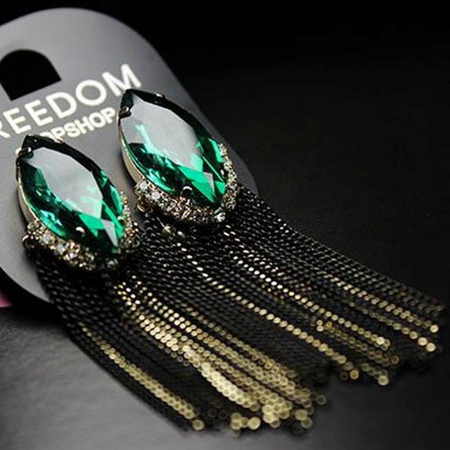 Гвоздики Бриа 2013 моде зеленый красный Ретро Палас джем падение Серьги ювелирные изделия уха новая женщина