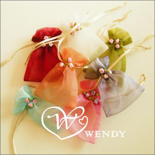 玫瑰纱袋2013热销创意欧式喜糖袋结婚回礼喜糖糖盒包装袋批发中号