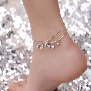 Summer ladies anklets for Mbox mail Korean fashion rose gold Crystal jewelry lovers during the summer the morning dew