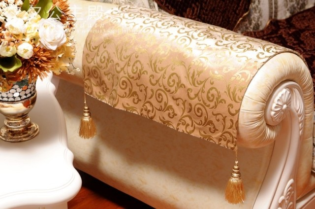 Накидка для дивана Европейский высококлассные расширенный ткани пользовательских диван рука полотенце полотенце рельсы полотенце золото диван полотенце
