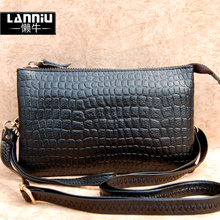 LanNiu lazy cow leather women handbag small messenger bag large capacity pure leather clutch purse