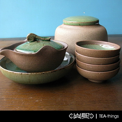 Yan city coarse porcelain coarse pottery by hand Han wind garden without a set of tureen