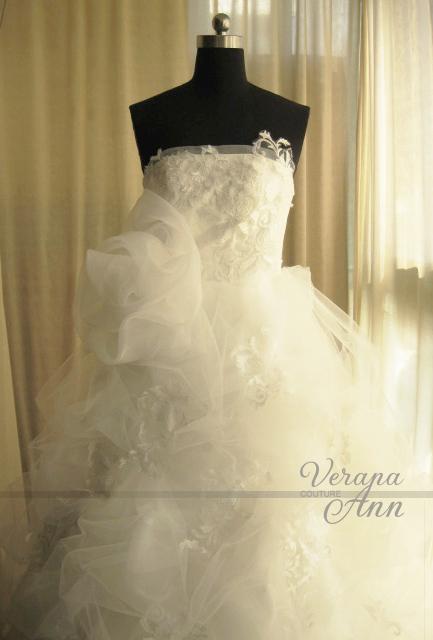 超值特价 Vera Wang王薇薇抹胸蕾丝公主裙蓬纱婚纱 新款 实物拍摄