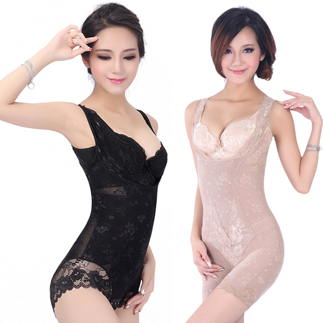 包邮 summer slim no trace of super strong stomach fat burning lace hip jointed the body s chest and body sculpting underwear