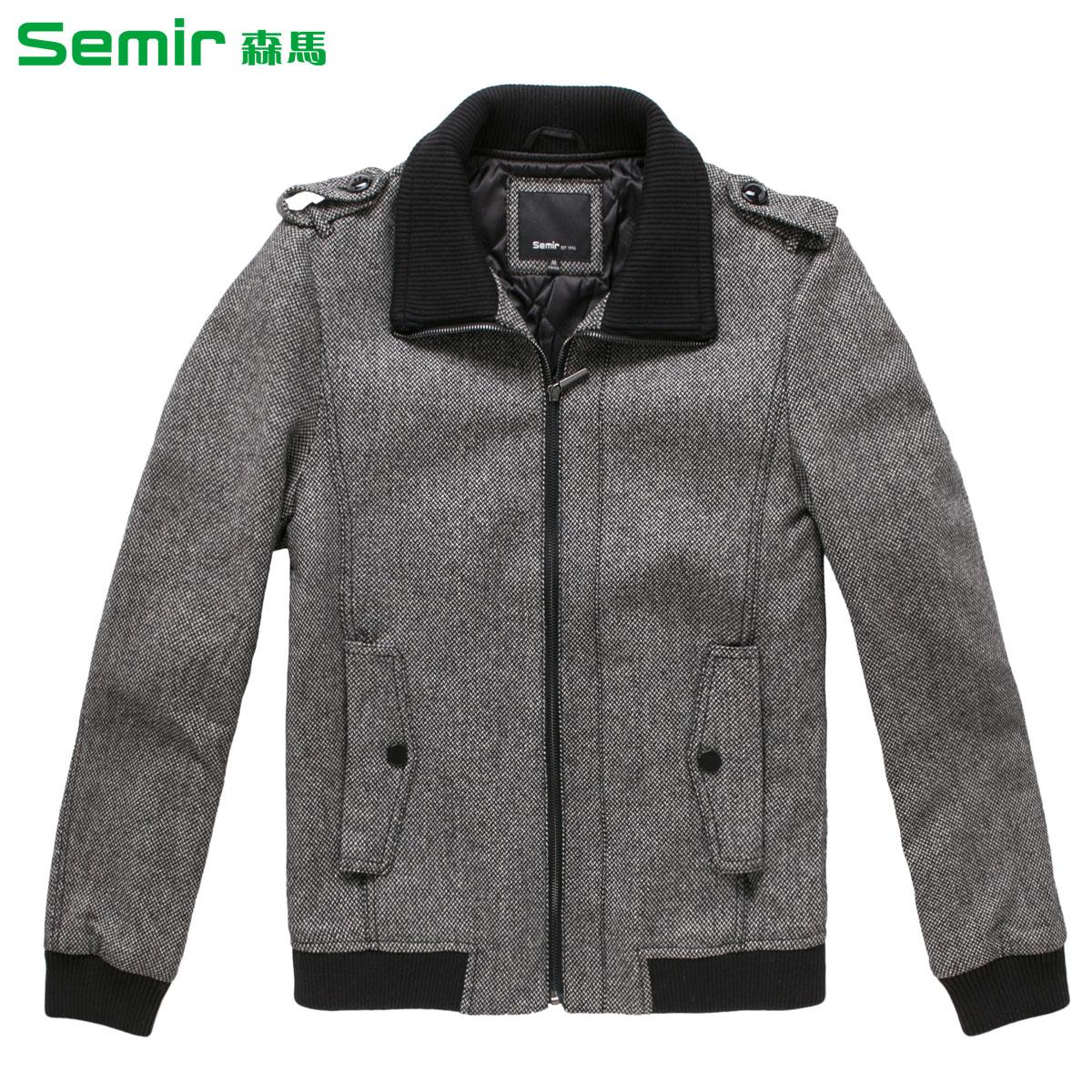 森马2013冬装新款 男装翻领呢子夹克 男 保暖男装外套图片