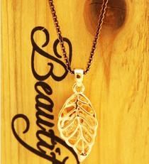 枫叶含锆石项链 独家OL女短款女士锁骨链高档保色项链 专柜正品