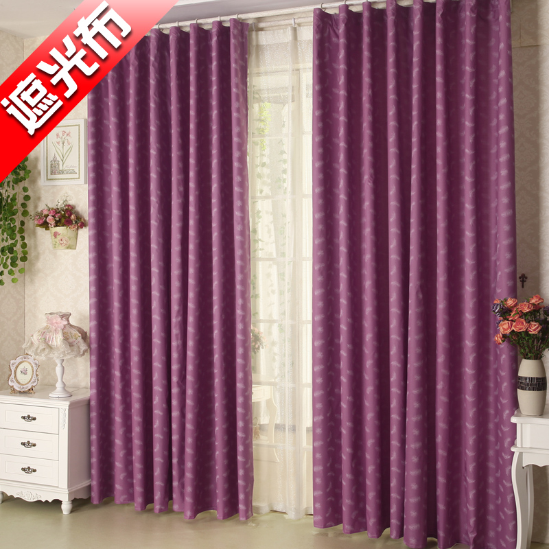 Post a bedroom sunshade cloth finished curtains printed fabric shading and UV customized wholesale