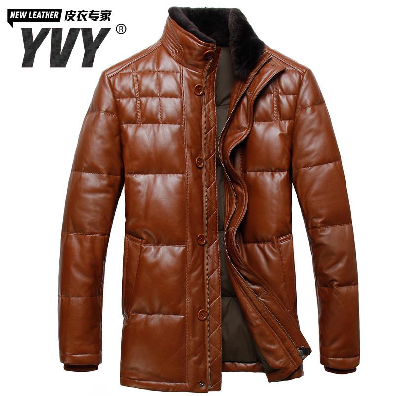 Одежда из кожи Yvy XC/8037 Одежда из натуральной кожи Овечья кожа Зимняя Воротник-стойка