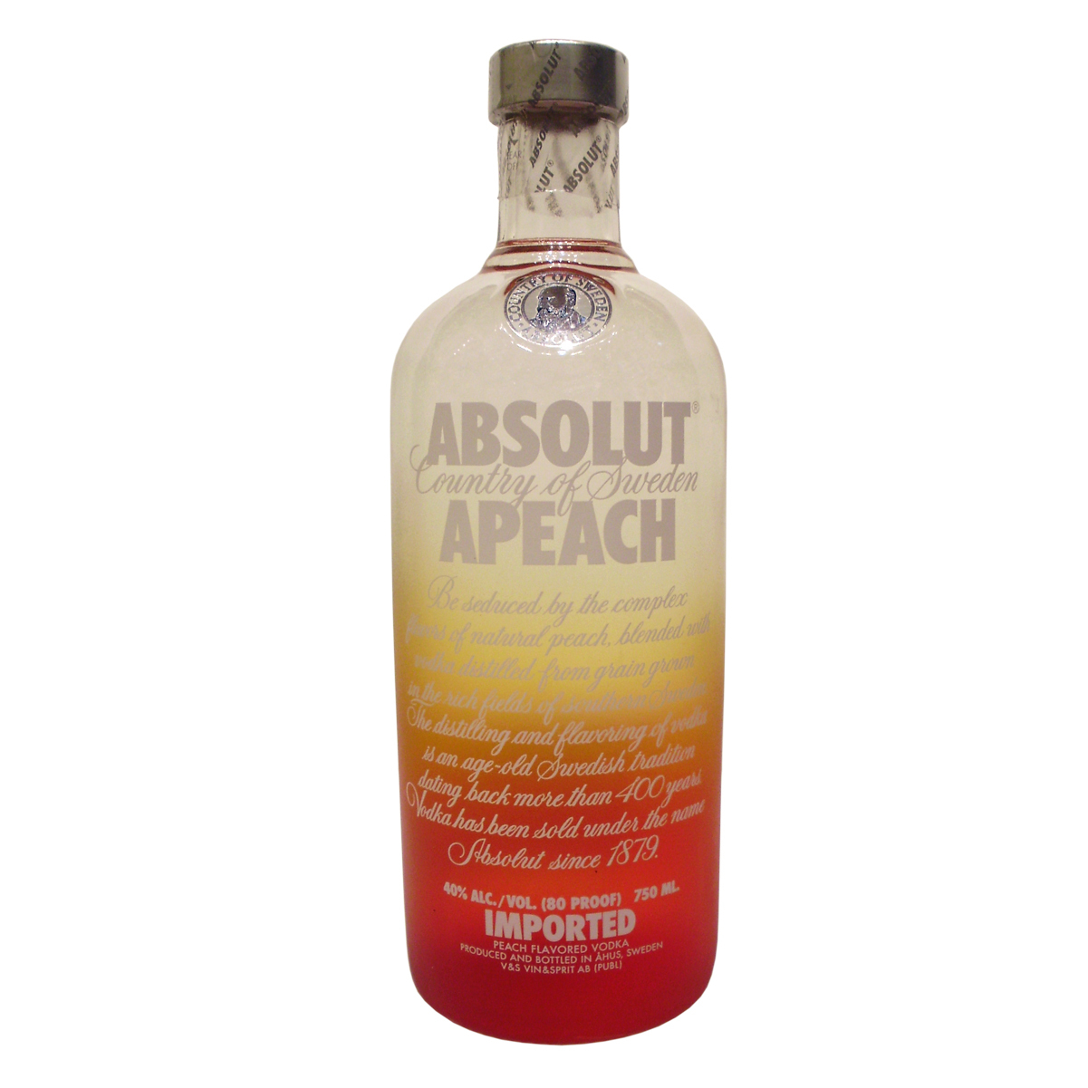 〖洋酒〗瑞典绝对伏特加蜜桃味 ABSOLUT APEACH VODKA 原装正品