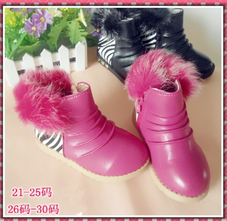 Детская кожаная обувь Осень/зима Распродажа новых маленьких девочек принцесса обувь молния детей помогли корейской версии коротких бархат мокасины