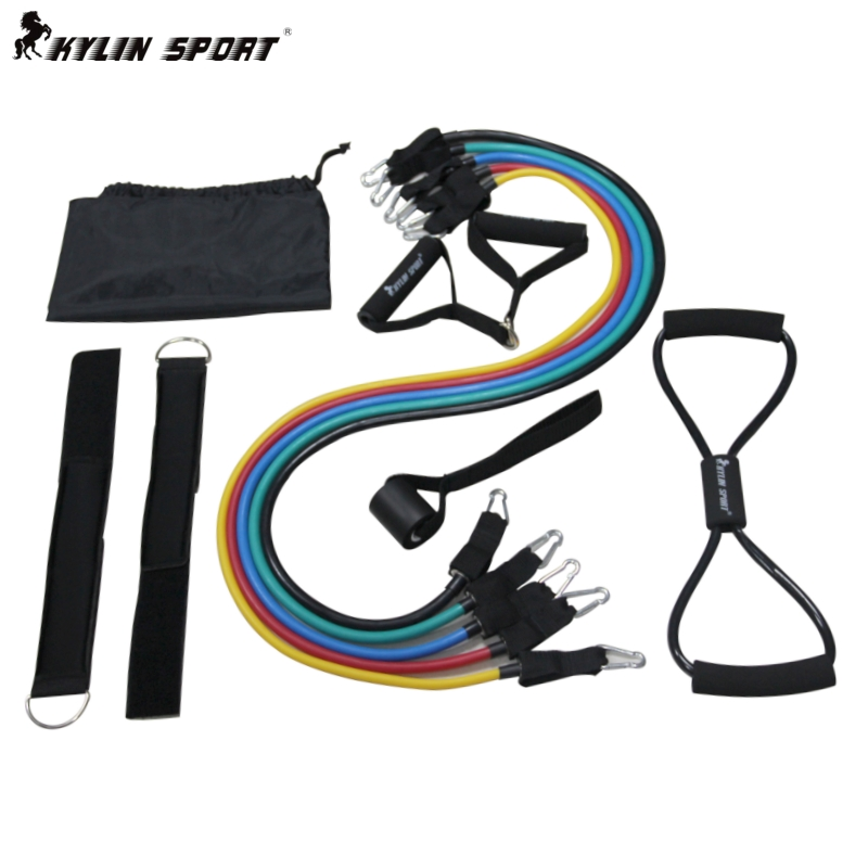 E-mail fitness strength training suit LaTeX elastic rope pull rope resistance class chest band tube tape