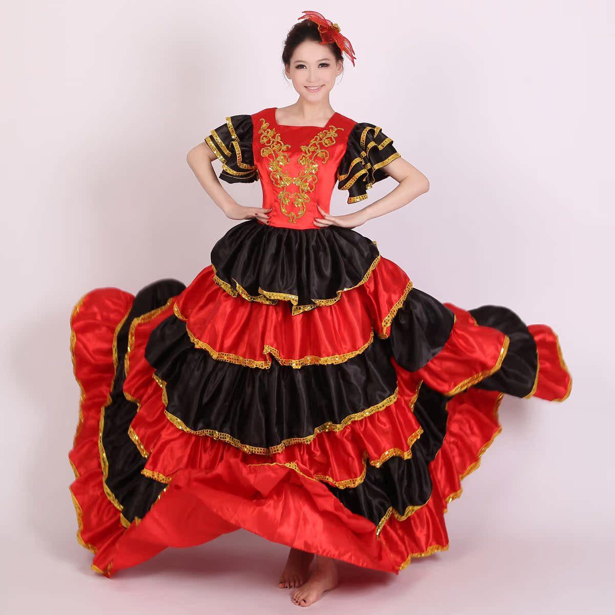 民族服装 舞台服装 古典服装 现代舞蹈演出服装 演出服 大合唱162