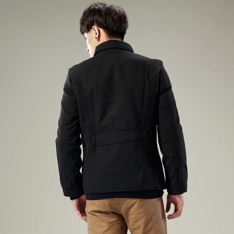 Пальто мужское Tonlion 2012 Шерстяная ткань для пальто Отложной воротник