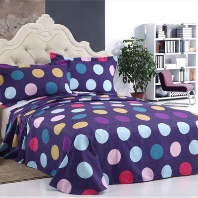 Cotton twill cotton single or double student child 1.8 m bed enterprises bed linen quilt single solid color dots