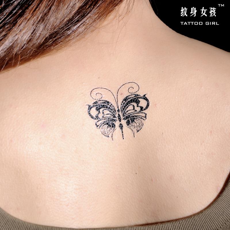 4元)  3: 格艾菲纹身贴-玫瑰花纹身贴 文艺小清新 黑白刺青 男女 防水