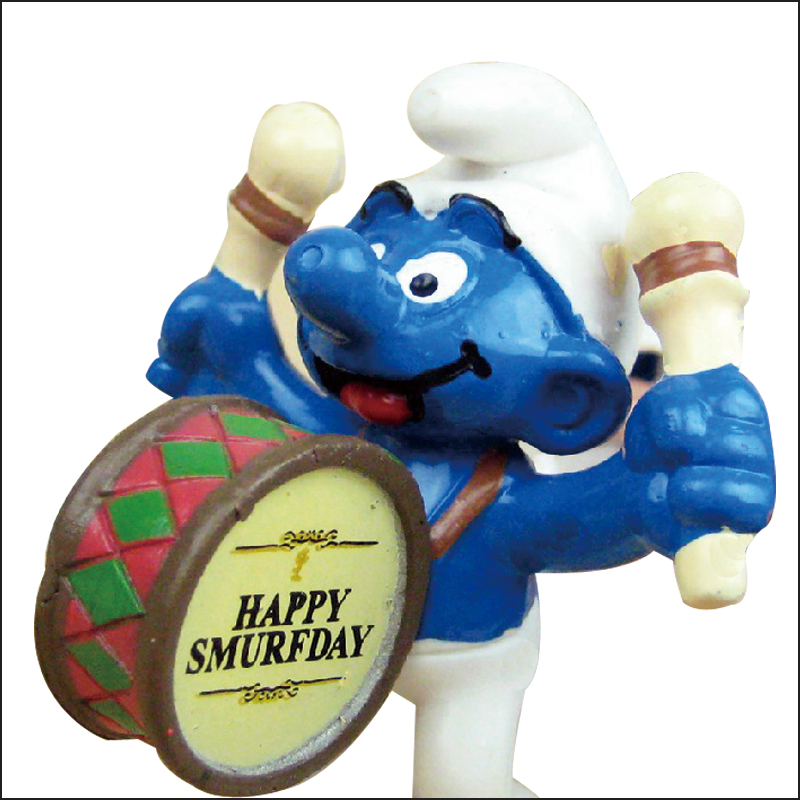 Roogo Smurfs Cartoon Mini PVC Home Decor
