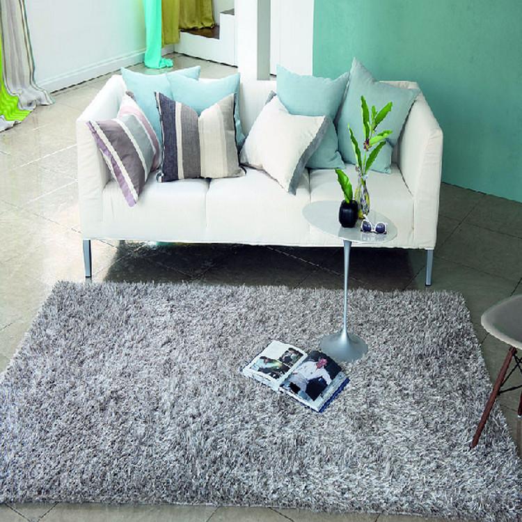 纯色南韩丝韩国丝家居卧室客厅茶几地毯可定做