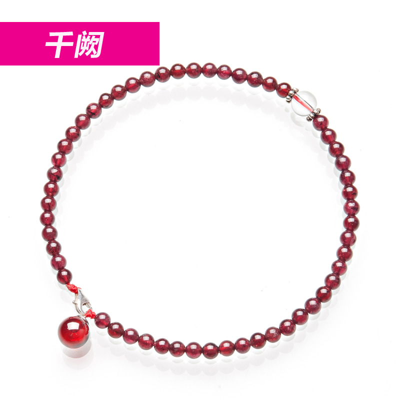 Thousands of full red garnet bracelet ladies authentic Korean fashion wild natural Crystal jewelry