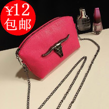 Europe 2013 new chain female bag retro casual mini packet Rose Red Ladies shoulder diagonal package