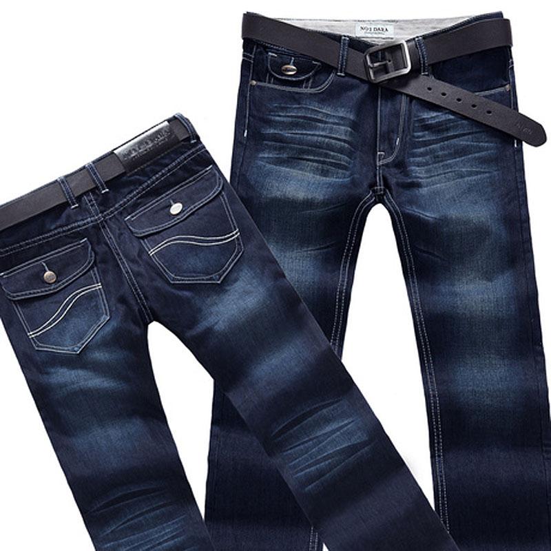 Джинсы мужские No.1 dara kz6330 No1dara Прямые брюки (окружность голени=окружности отворота) Классическая джинсовая ткань Эксклюзивные корейский и японский стили 2012