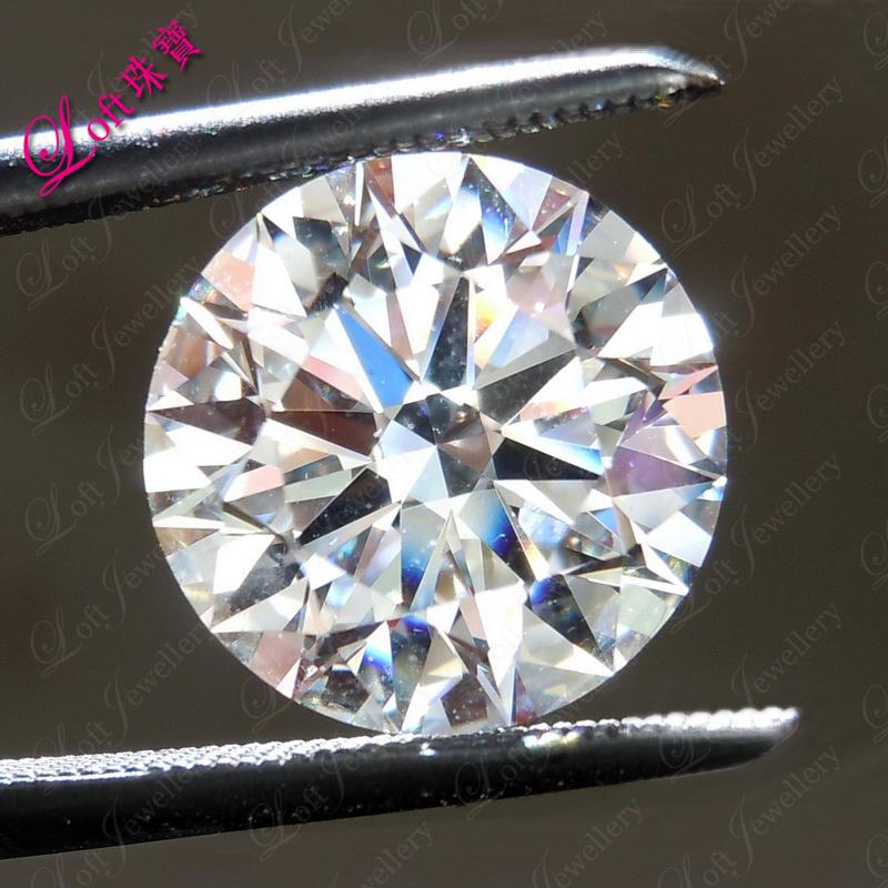 Loft珠宝 3.22克拉钻H VS1 3EX N IGI裸钻定制结婚戒指钻戒