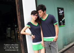 Couple shirt short sleeve t shirt Korean style skirts