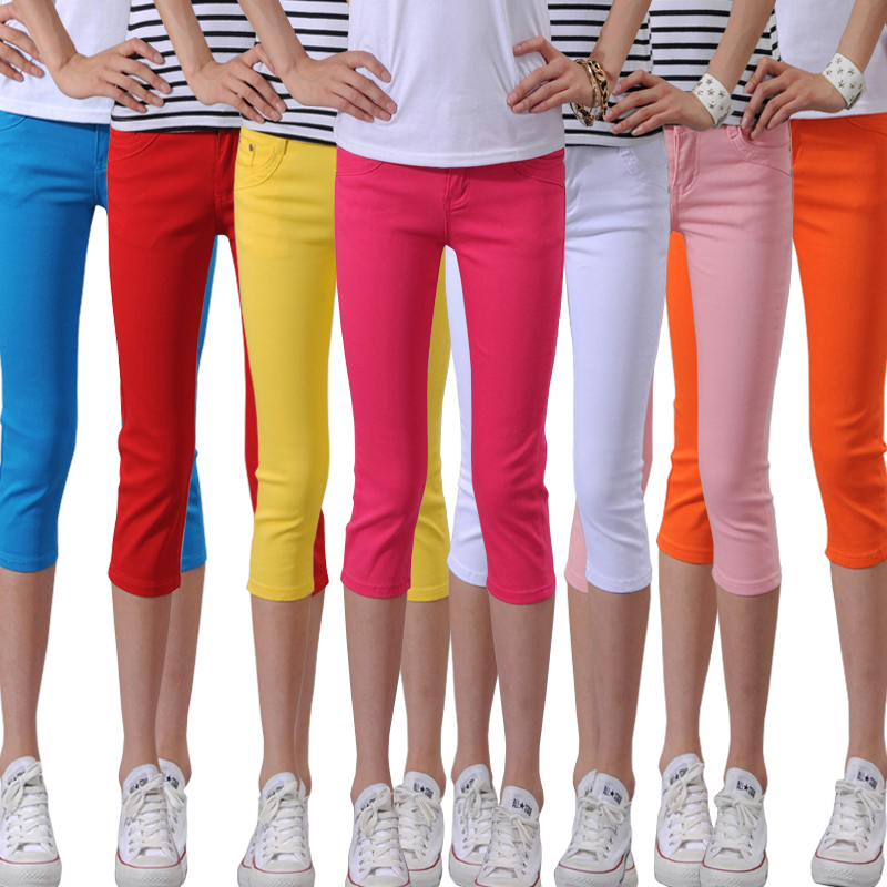 Candy color post 2013 new skinny stretch pants girl Korean version flows in summer plus size relaxed casual pants