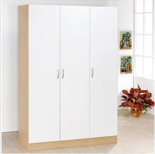 Whole wardrobe closet wardrobe combination of three wooden wardrobe simple wardrobe lockers, storage cabinets