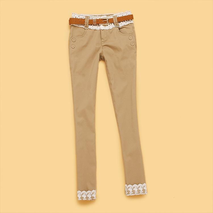Женские брюки Wheat starter a0793 AB2-2-3 2013 Длинные брюки Узкие брюки-карандаши Casual Весна 2013 Другое Шнурки, пояс
