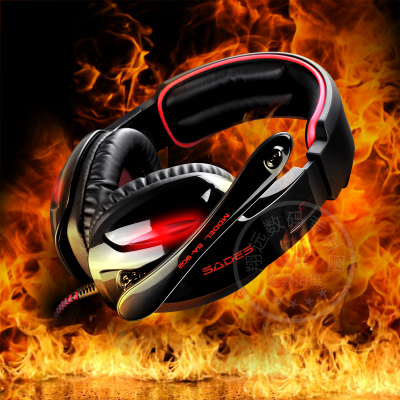 Free shipping SADES / Siders SA-902 Gaming Headset headset with microphone headset 7.1