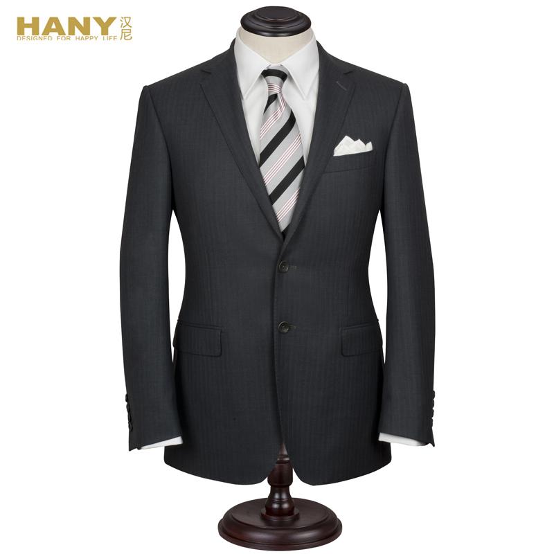 Деловой костюм HANY 22210 Однобортная на две пуговицы Классический (воротник шириной 7- 9см) Овчина Осень