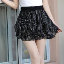 女半身裙蘭熙女裝韓版雪紡短裙春秋半身裙夏季蛋糕百褶裙紗裙子
