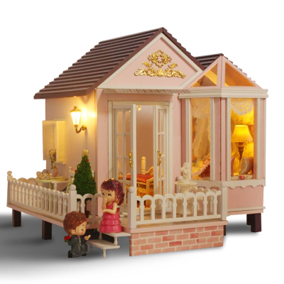 diy handmade cabin large villa newest model assembled creative gift sweet agreed