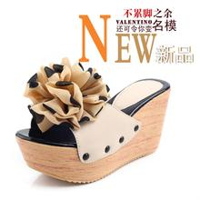 Hot 2013 Rome explosion models big flower sandals thick crust muffin Japanese women's summer sandals slope with sandals