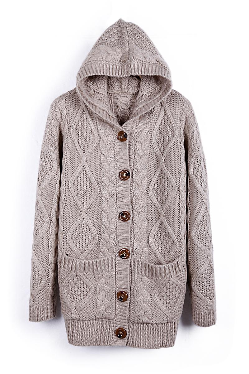 Свитер женский Sheinside sweater1291814 2012 Нейлон Зима 2012 Длинный рукав Классический рукав С капюшоном