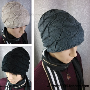 Новые случайные шляпы Мужские тенденции осень-зима Hat моды двойной Корейский хип-хоп танца теплая шерсть шляпа Cap