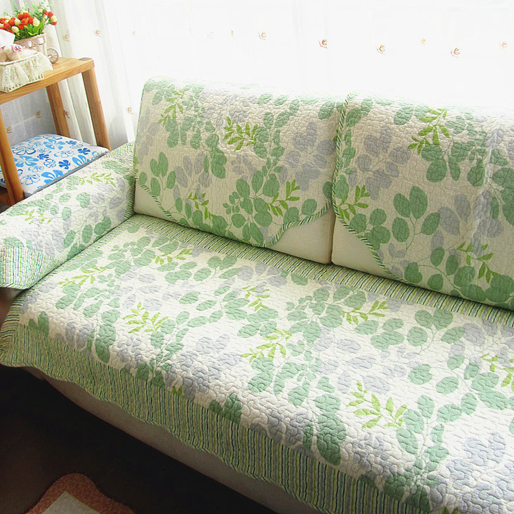 The Cotton Slipcover Quilting Sofa Cushion Corner Combination Fabric Past Cover Green