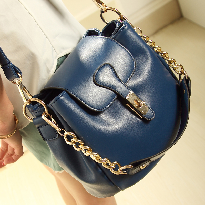 2013 new wave female Korean shoulder bag Messenger bag ladies hand-fashion vintage chain-bucket bag