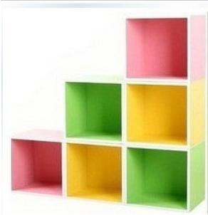 Книжный шкаф Двойной 12 цвет мини-мебель шкаф хранения кабинета комбинации для детей Детские шкафчики корейских детей ковчег